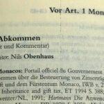 Obenhaus, Kommentierung in Wassermeyer, Doppelbesteuerungsabkommen, zum Abkommen über den Steuerinformationsaustausch zwischen Deutschland und dem Fürstentum Monaco
