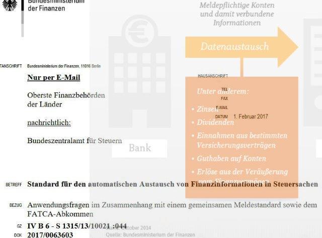 BMF zu Automatischem Informationsaustausch