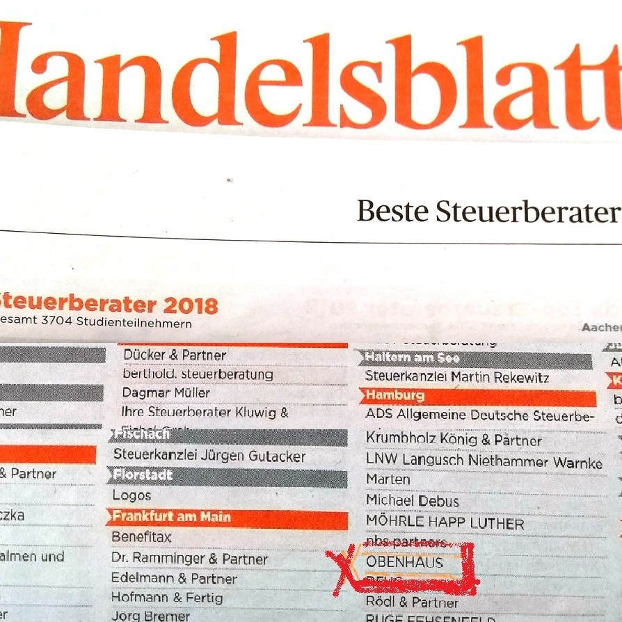 Handelsblatt Top-Steuerberater 2018